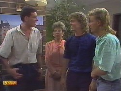 Des Clarke, Eileen Clarke, Henry Ramsay, Scott Robinson in Neighbours Episode 0649