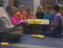 Harold Bishop, Madge Bishop, Helen Daniels, Eileen Clarke, Charlene Mitchell, Gail Robinson, Beverly Marshall, Lucy Robinson in Neighbours Episode 0649