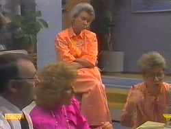 Harold Bishop, Madge Bishop, Helen Daniels, Eileen Clarke in Neighbours Episode 0649