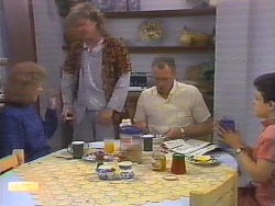 Madge Bishop, Henry Ramsay, Jim Robinson, Lucy Robinson in Neighbours Episode 0649