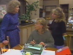 Madge Bishop, Scott Robinson, Charlene Mitchell in Neighbours Episode 0649
