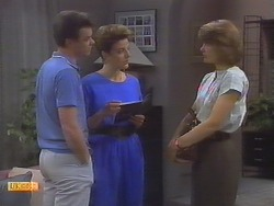 Paul Robinson, Gail Robinson, Beverly Marshall in Neighbours Episode 0649