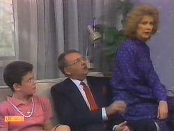Lucy Robinson, Harold Bishop, Madge Bishop in Neighbours Episode 0649
