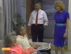 Helen Daniels, Jim Robinson, Harold Bishop, Madge Ramsay in Neighbours Episode 0650