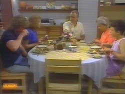 Henry Ramsay, Madge Ramsay, Jim Robinson, Helen Daniels, Lucy Robinson in Neighbours Episode 0651