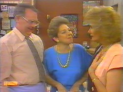 Harold Bishop, Eileen Clarke, Madge Bishop in Neighbours Episode 0652