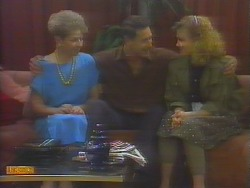 Eileen Clarke, Malcolm Clarke, Sally Wells in Neighbours Episode 0653