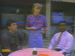 Tony Romeo, Sally Wells, Pete Baxter in Neighbours Episode 0653
