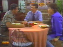 Malcolm Clarke, Des Clarke, Mike Young in Neighbours Episode 0654
