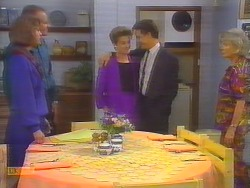 Beverly Marshall, Jim Robinson, Gail Robinson, Paul Robinson, Helen Daniels in Neighbours Episode 0654