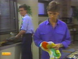 Des Clarke, Mike Young in Neighbours Episode 0655