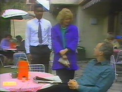 Pete Baxter, Madge Bishop, Jim Robinson in Neighbours Episode 0655