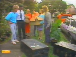 Scott Robinson, Pete Baxter, Jane Harris, Tony Romeo, Sally Wells, Henry Ramsay in Neighbours Episode 0655