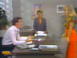 Paul Robinson, Gail Robinson, Jane Harris in Neighbours Episode 0655