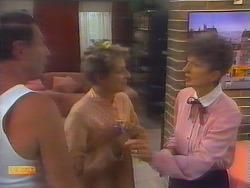 Malcolm Clarke, Eileen Clarke, Nell Mangel in Neighbours Episode 0656