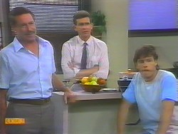 Malcolm Clarke, Des Clarke, Mike Young in Neighbours Episode 0657