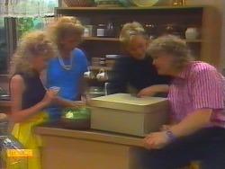 Charlene Robinson, Madge Ramsay, Scott Robinson, Henry Ramsay in Neighbours Episode 0658