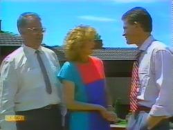 Harold Bishop, Madge Ramsay, Des Clarke in Neighbours Episode 0658