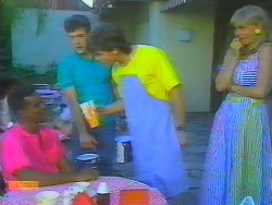 Pete Baxter, Tony Romeo, Mike Young, Jane Harris in Neighbours Episode 0659