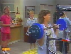 Scott Robinson, Sally Wells, Henry Ramsay in Neighbours Episode 0659