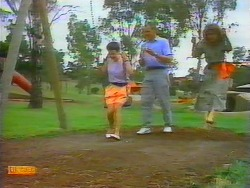 Lucy Robinson, Jim Robinson, Beverly Marshall in Neighbours Episode 0659