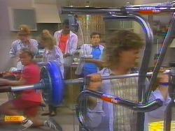 Scott Robinson, Sally Wells, Charlene Mitchell, Pete Baxter, Tony Romeo, Henry Ramsay in Neighbours Episode 0659