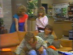 Madge Bishop, Henry Ramsay, Charlene Mitchell, Beverly Marshall in Neighbours Episode 0660