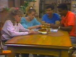 Charlene Robinson, Sally Wells, Tony Romeo, Pete Baxter in Neighbours Episode 0660