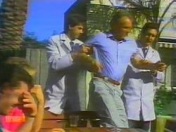 Paul Robinson, Scott Robinson, Jim Robinson in Neighbours Episode 0660