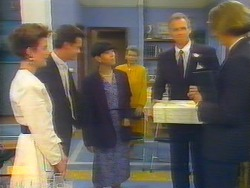 Gail Robinson, Paul Robinson, Hilary Robinson, Helen Daniels, Jim Robinson, Celebrant in Neighbours Episode 0661