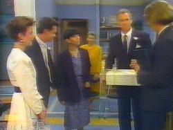Gail Robinson, Paul Robinson, Hilary Robinson, Helen Daniels, Jim Robinson, Celebrant in Neighbours Episode 0661
