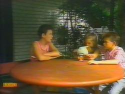 Lucy Robinson, Katie Landers, Todd Landers in Neighbours Episode 0661