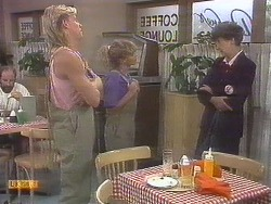 Scott Robinson, Charlene Mitchell, Nell Mangel in Neighbours Episode 0678
