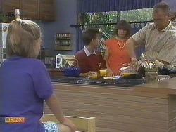 Katie Landers, Todd Landers, Beverly Robinson, Jim Robinson in Neighbours Episode 0679