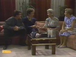 Paul Robinson, Gail Robinson, Helen Daniels, Eileen Clarke in Neighbours Episode 0679