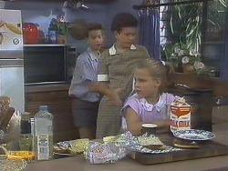 Todd Landers, Lucy Robinson, Katie Landers in Neighbours Episode 0679
