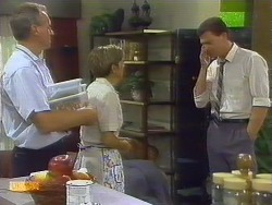 Jim Robinson, Eileen Clarke, Des Clarke in Neighbours Episode 0681
