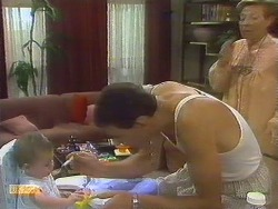 Jamie Clarke, Des Clarke, Eileen Clarke in Neighbours Episode 0681