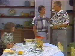 Beverly Marshall, Paul Robinson, Jim Robinson in Neighbours Episode 0682