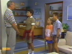 Jim Robinson, Lucy Robinson, Katie Landers, Todd Landers in Neighbours Episode 0682