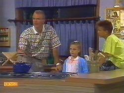 Jim Robinson, Katie Landers, Todd Landers in Neighbours Episode 0683