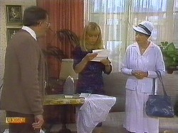 Harold Bishop, Jane Harris, Nell Mangel in Neighbours Episode 0684