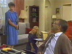 Nell Mangel, Jane Harris, Harold Bishop in Neighbours Episode 0684