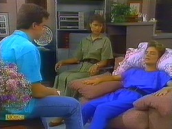 Paul Robinson, Beverly Marshall, Gail Robinson in Neighbours Episode 0685