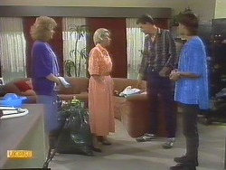 Madge Ramsay, Helen Daniels, Des Clarke, Mike Young in Neighbours Episode 0691