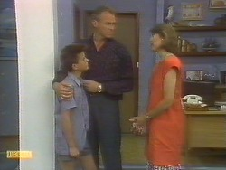 Todd Landers, Jim Robinson, Beverly Marshall in Neighbours Episode 0692