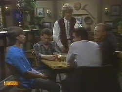 Mike Young, Des Clarke, Henry Ramsay, Paul Robinson, Jim Robinson in Neighbours Episode 0692
