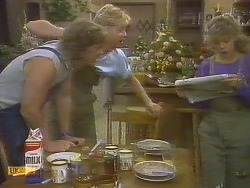 Henry Ramsay, Scott Robinson, Charlene Mitchell in Neighbours Episode 0693
