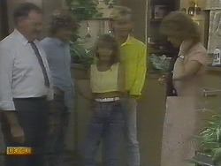 Harold Bishop, Henry Ramsay, Charlene Mitchell, Scott Robinson, Madge Bishop in Neighbours Episode 0693
