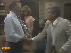 Harold Bishop, Madge Ramsay, Lou Carpenter in Neighbours Episode 0694